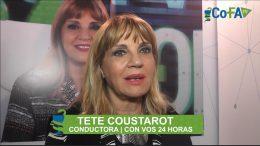 Tete Coustarot en el stand de COFA en Expo Farmacia 2017