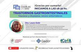 17 – TRASTORNOS GASTROINTESTINALES: Náuseas y dispepsia, socios sintomáticos