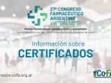 Apertura del 27º Congreso Farmacéutico Argentino Virtual 2021